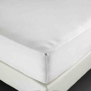 drap housse molleton blanc bonnet de 25 cm 210 g m 100x200 cm. Black Bedroom Furniture Sets. Home Design Ideas