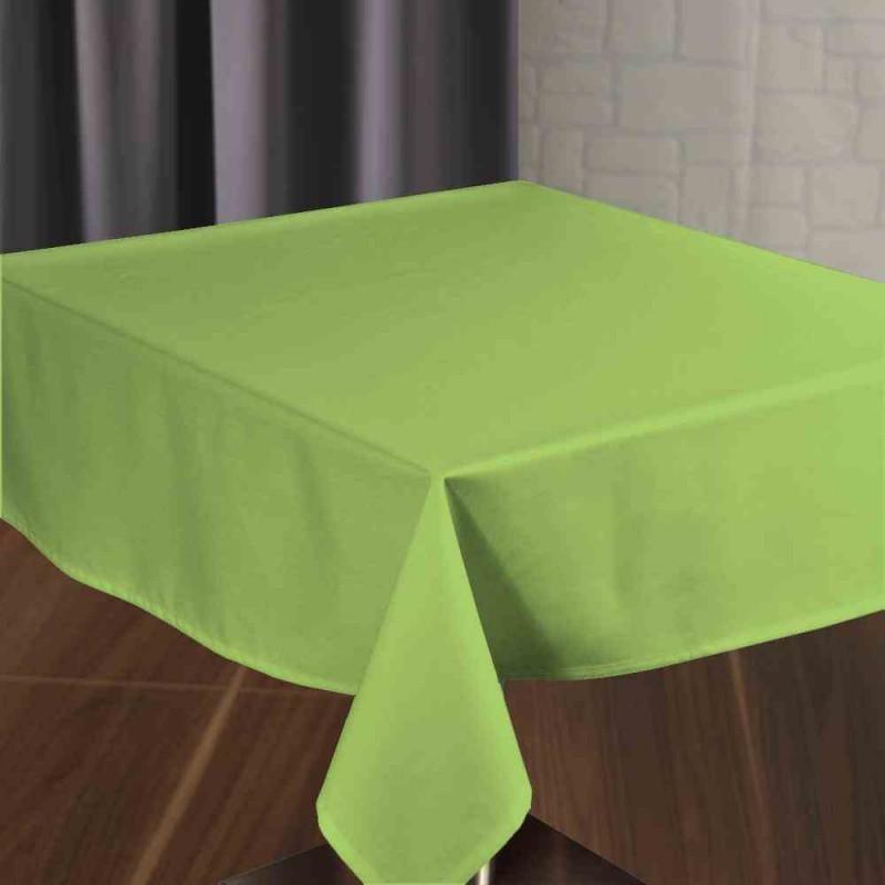 Nappe signature plus coloris anis 100 polyester for Ensemble nappe et serviette de table