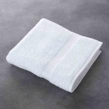 serviette de bain luxe blanc 100 coton 500 g m 50x100 cm. Black Bedroom Furniture Sets. Home Design Ideas
