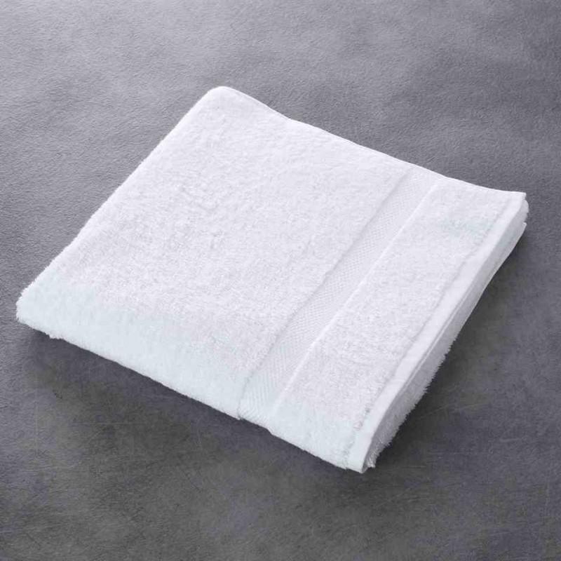 drap de bain luxe blanc 100 coton 500 g m 70x140 cm. Black Bedroom Furniture Sets. Home Design Ideas