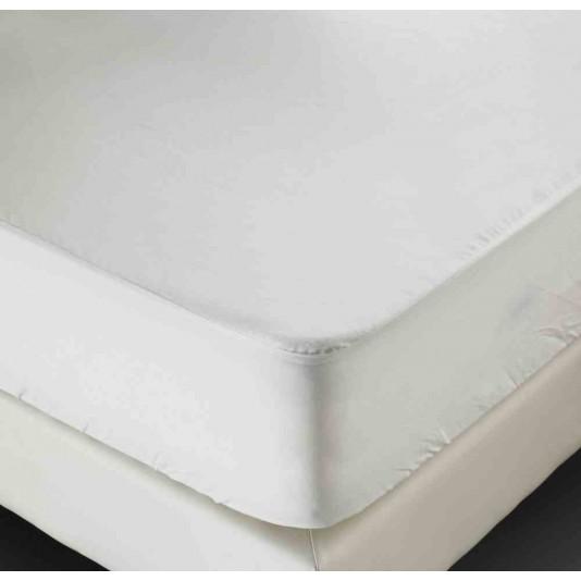 drap housse molleton polyurethane blanc bonnet de 25 cm 210 g m 180x190 cm. Black Bedroom Furniture Sets. Home Design Ideas